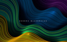 Colorful Dynamic Dimension Layers Wavy Line Background
