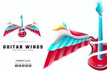 Guitar Wings Gradient Logo