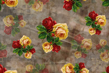 Rose Wallpaper Seamless With Texture