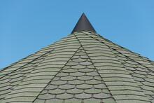 Decorative Asphalt Tiled Roof Of A Gazebo