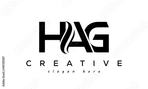Fotografiet Letter HAG creative logo design vector