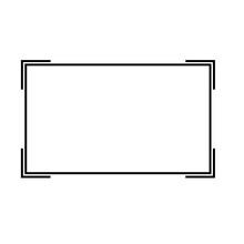 Frame Icon On White Background. Frame Border Line Sign. Vintage Frame Symbol. Flat Style.