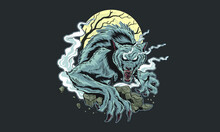 Werewolf T Shirt Design