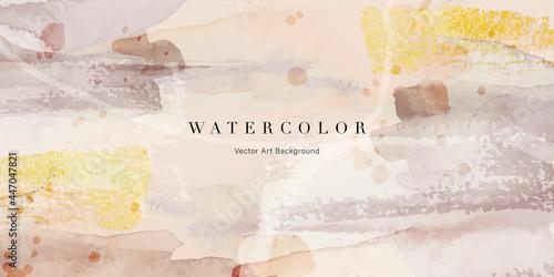 Fotografía Watercolor art background vector