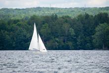 Sailing Boat On A Large Canadian Lake
