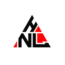 HNL Triangle Letter Logo Design With Triangle Shape. HNL Triangle Logo Design Monogram. HNL Triangle Vector Logo Template With Red Color. HNL Triangular Logo Simple, Elegant, And Luxurious Logo. HNL