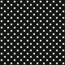 Polka Dot Squares. Vector White Squares And Black Background. Seamless Squares Pattern.