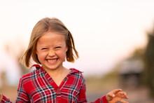 Little Girl Making Scary Monster Face