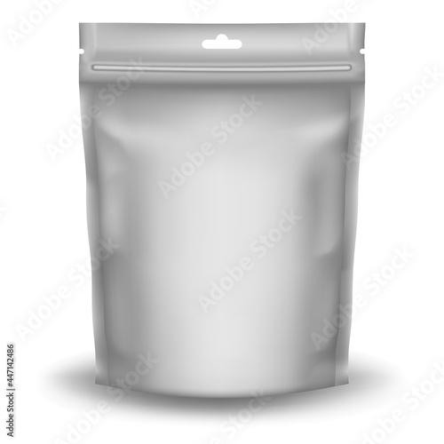 Tablou Canvas Realistic Zip Package design - blank mockup template