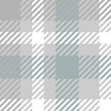 Repeat Of Seamless Check Monocrom Pattern. Textile Tartan Plaid Swatch