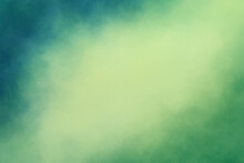 Blue Green Background With Stormy Cloudy Corner Border Design And Soft Yellow Center, Dark And Light Colors Clouds Or Mist Effect