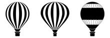 Hot Air Baloon Icon Set Vector Sign Symbol