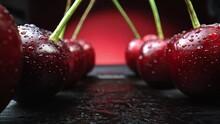 Cherry Red Macro Shot