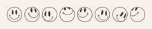 Emoji Smile Set. Smiley Happy Face. Vector Illustration