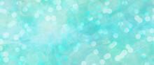 木漏れ日風のキラキラ背景イラスト)エメラルドグリーン 光 イルミネーション 輝き 癒し