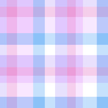 Colorful Checkered Pattern. Seamless Multicolored Texture For Shirts. Colored Illustration