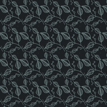 Soft Leaf Background With Pattern Style For Fabric Or Paper Printing