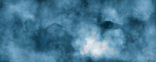 Abstract Blue  Water Color Background, Illustration, Texture For Design