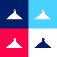 Belgium Blue And Red Four Color Minimal Icon Set