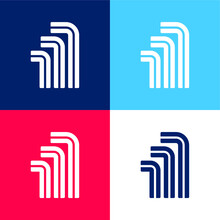Allen Blue And Red Four Color Minimal Icon Set