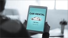 Car Rental Concept On A Tablet