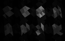 Dark Silver, Gray Vector Low Poly Cover.