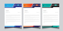 Professional Corporate Letterhead Design. Simple And Clean Print Ready Letterhead Or Pad Vector Template.
