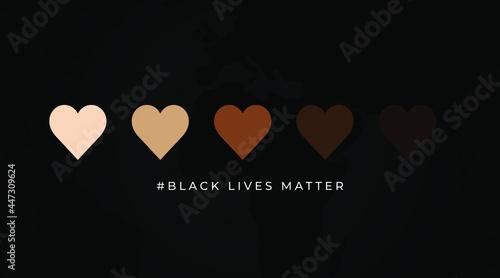 Billede på lærred Black Lives matter modern creative minimalist banner, sign, design concept, soci