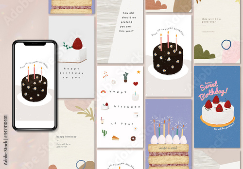 Birthday Greeting Layout for Social Media Post