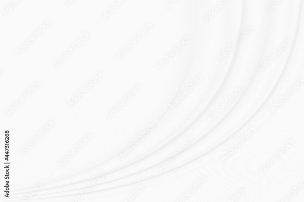 White Conton Cloth background with soft waves.