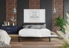 Poster Frame Mockup Interior Bedroom_9