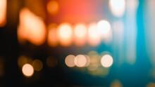 Bokeh Lights Gold Glitter Background