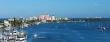 Fort Myers Beach Skyline And The Mantanza Pass Waterway.
