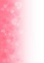 Abstract Hearts Background, Wallpaper Background. Blurry Hearts On Pink Background. Valentines Day Illustration.