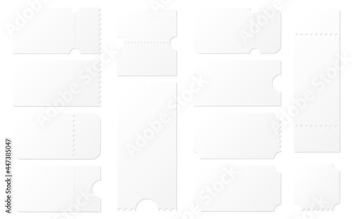 Fototapeta 空白のクーポン券デザインイラストセット