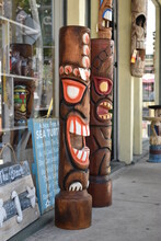Wooden Totem Pole