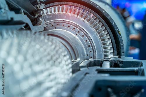 Photo 3D printer jet engine printed model plastic