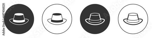 Billede på lærred Black Oktoberfest hat icon isolated on white background