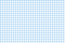 Light Blue Gingham Check Fabric Texture
