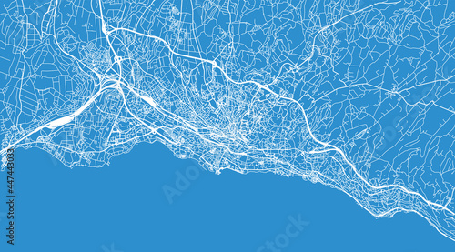 Tela Urban vector city map of Lausanne, Switzerland, Europe
