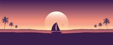 Yacht Marine Sailboat On The Sea Silhouette