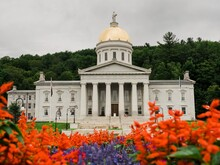 The Vermont State House, In Montpelier, Vermont