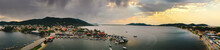 Tropical Paradise Island Jungle Beach Water Ocean Landscape View Scenic Florianópolis Brazil