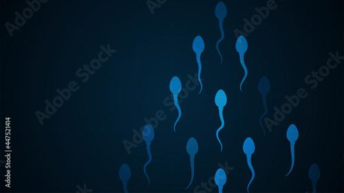 Obraz na plátne Sperm icon. human sperm cells