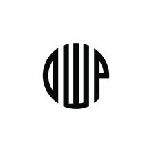 DWP Letter Logo Design. DWP Letter In Circle Shape. DWP Creative Three Letter Logo. Logo With Three Letters. DWP Circle Logo. DWP Letter Vector Design Logo