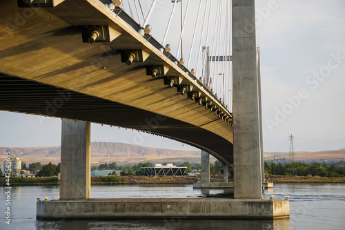 Close-up of cable bridge architecture #447549695