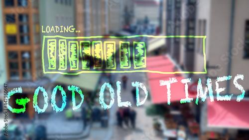 Fotografija Street Sign GOOD OLD TIMES