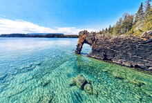 Rock Formation Called The Sea Lion, Sleeping Giant Provincial Park Near Thunder Bay Ontario
