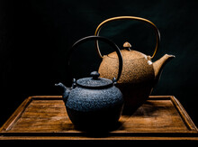 Teapot On A Wooden Table