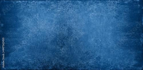 Billede på lærred Grunge dark blue stone texture background